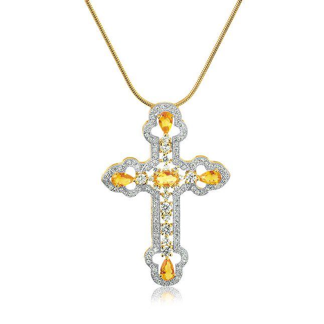 joias-colar-semi-joia-bahado-ouro18k-com-pingente-cruz-zirconias-cristal-e-amarela-