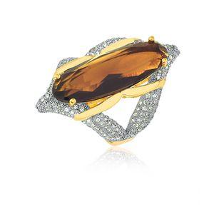 joias-conjunto-semi-joia-anel-e-brinco-banhado-ouro-18k-cristal-marrom-com-zirconias