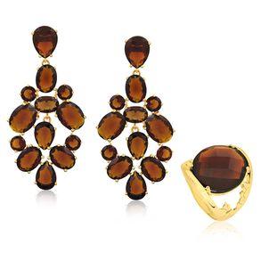 joias-conjunto-semi-joia-anel-e-brinco-banhado-ouro-18k-cristal-marrom
