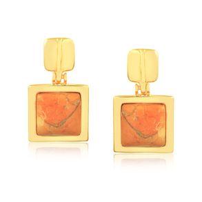 joias-brinco-semi-joia-pedra-howlita-laranja-banhado-ouro-18k