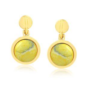 joias-brinco-semi-joia-pedra-howlita-amarela-banhado-ouro-18k