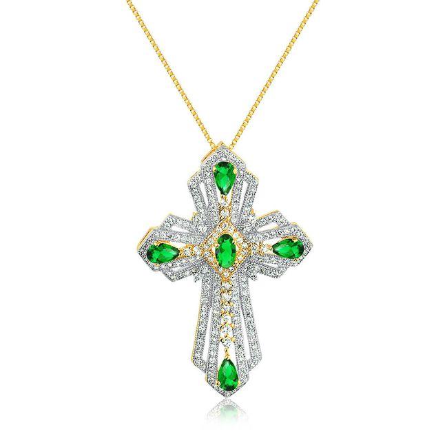 joias-colar-semi-joia-banhado-ouro18k-com-pingente-cruz-zirconias-verde-e-cristal