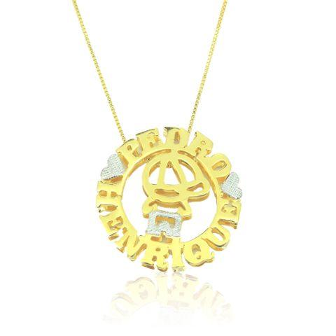 Mandala Dupla Personalizada Menino com Nome Banhado em Ouro 18k ... c4d18c3ed7