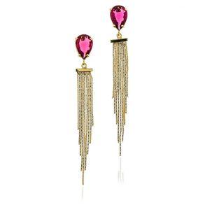joias-brinco-semi-joia-de-franja-com-pedra-cristal-na-cor-rosa-pink