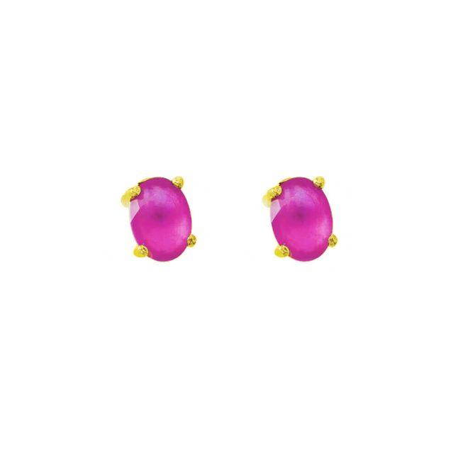 brinco-oval-com-zirconia-pink-banhado-em-ouro-18k
