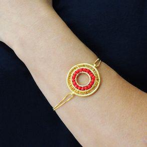 joias-pulseira-semi-joia-cristal-vermelho-banhado-ouro-18k