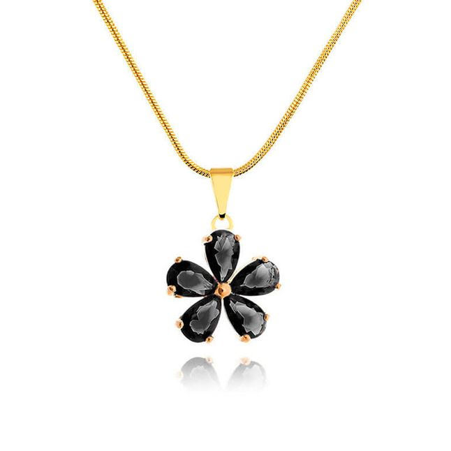 colar-flor-com-zirconias-pretas-banhado-em-ouro-18k