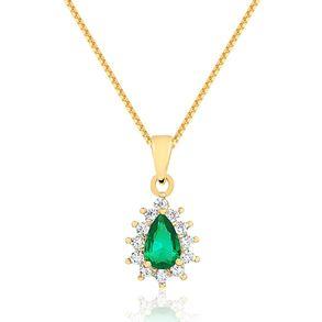 colar-gota-com-pedra-verde-escuro-e-zirconias-cristal-cravejadas-banhado-em-ouro-18k