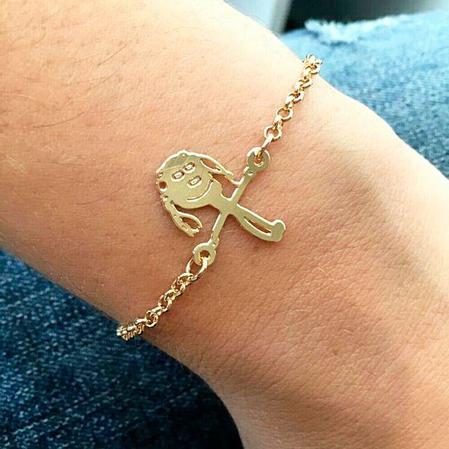 pulseira-personalizada-com-desenho-da-crianca-banhado-em-ouro-18k