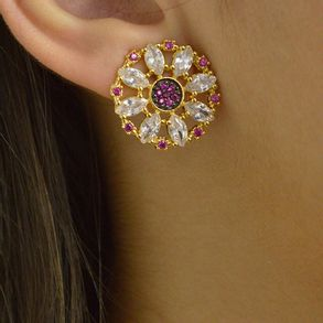 brinco-redondo-com-zirconias-cristal-e-rubi-banhado-em-ouro-18k