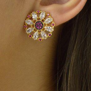 brinco-redondo-com-zirconias-cristal-e-rubi-banhado-em-ouro-18k-2