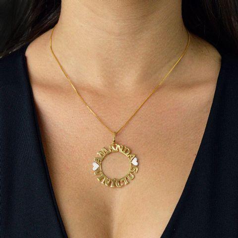 Mandala Simples Personalizada com Nome Banhado em Ouro 18k - Joyce ... 03261f28ec