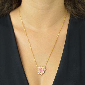 conjunto-coracao-com-pedra-rosa-e-navetes-banhado-em-ouro-18k