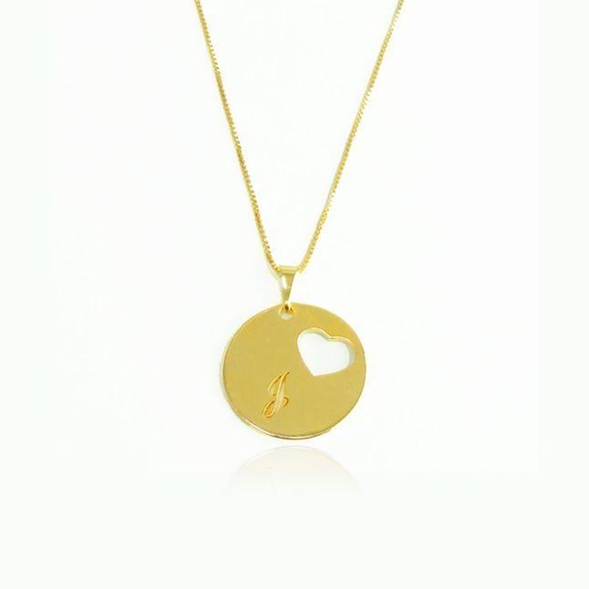 colar-personalizado-com-letra-e-coracao-vazado-banhado-em-ouro-18k