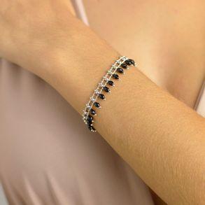 pulseira-com-pingentes-de-cristais-pretos-e-mini-bolinhas-banhado-em-rodio-2