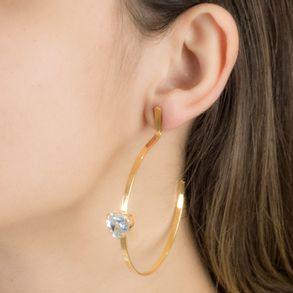 Brinco-argola-fixa-com-coracao-cristal-em-banho-de-ouro-18k