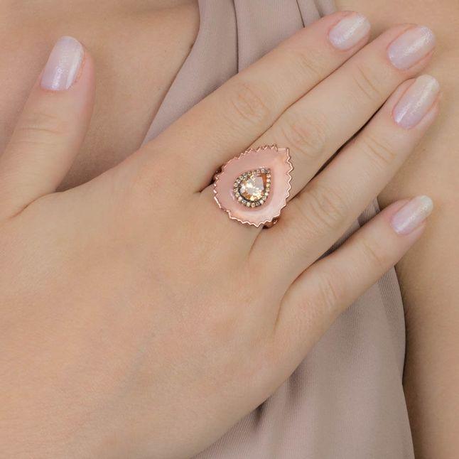 anel-com-2-gotas-esmaltado-coral-e-zirconias-citrino-banhado-em-ouro-rose-18k