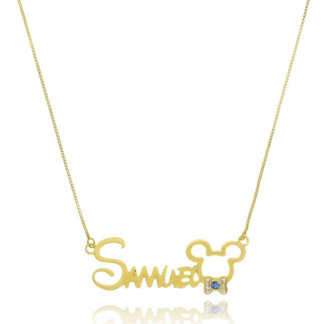 colar-personalizado-com-nome-e-pingente-do-mickey-banhado-em-ouro-18k