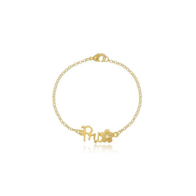 pulseira-personalizada-com-nome-e-pingente-de-flor-banhado-em-ouro-18k