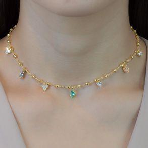 colar-com-bolinhas-e-pingentes-cristais-colors-oval-e-triangular-banhado-em-ouro-18k