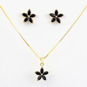 conjunto-de-flor-cristal-preto-leitoso-banhado-em-ouro-18k