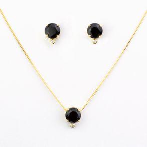conjunto-ponto-de-luz-pedra-cristal-preto-leitoso-com-uma-zirconia-cristal-banhado-a-ouro-18k.