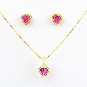 conjunto-triangulo-com-cristal-pink-banhado-a-ouro-18k