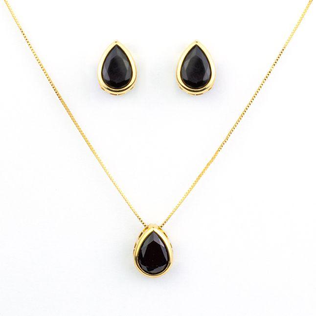 conjunto-de-colar-e-brinco-modelo--de-gota-cristal-preto-banhado-a-ouro-18k