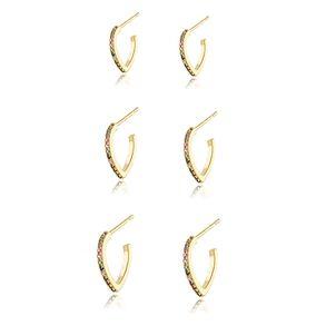 Brinco-trio-de-argolinhas-modelo-coracoes--cravejados-com-micro-zirconias-collors-em-banho-de-ouro-18k