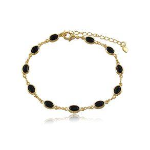 pulseira-com-12-cristais-ovais-black-banhado-em-ouro-18k