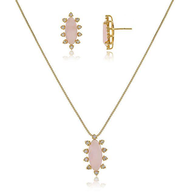 conjunto-oval-com-cristal--quartzo-rosa-cravejado--com-zirconias-em-volta-banhado-a-ouro-18k-