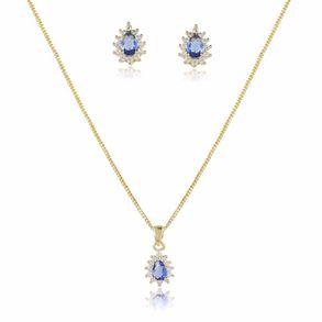 conjunto-modelo-gotinha-com-pedra-cristal-azul-marinho-cravejado-com-micro-zirconias-em-volta-banho-de-ouro-18k