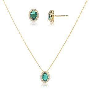conjunto-modelo-princesa-com-pedra-cristal-verde-esmeralda-cravejado-com-micro-zirconias-em-volta-banho-de-ouro-18k