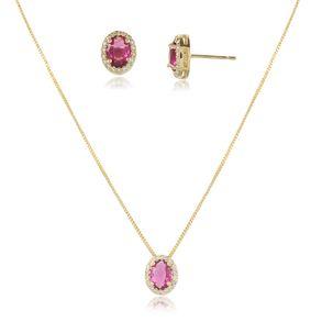 conjunto-modelo-princesa-com-pedra-cristal-rosa-pink-cravejado-com-micro-zirconias-em-volta-banho-de-ouro-18k