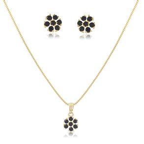 conjunto-delicado-modelo-de-flor-com-pedra-cristal-preto-em-banho-de-ouro-18k