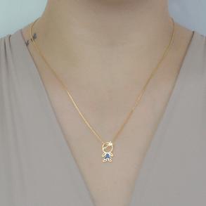 Colar-Com-Pingente-Menino-Cravejado-Com-Zirconias-Azul-Em-Banho-de-Ouro-18K
