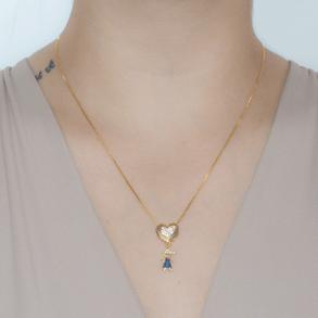 Colar-Coracao-Cravejado-Com-Pingente-De-Menino-Cravejado-Com-Zirconias-Azul-E-Cristal-Em-Banho-de-Ouro-18K