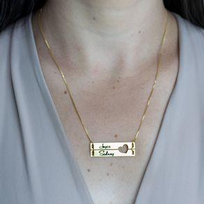 Colar-Personalizado-Placa-Com-Dois-Nomes-E-Coracao-Vazado--Banhado-Em-Ouro-18K