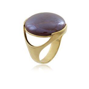 Anel-De-Pedra-Natural-Agata-Vermelha-Vazado-Na-Lateral-Em-Banho-De-Ouro-18k