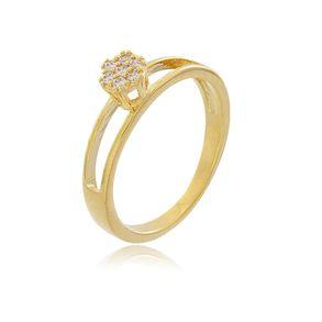 Anel-Solitario-Flor-Vazado-Cravejado-Com-Zirconias-Cristais-Em-Banho-De-Ouro-18k
