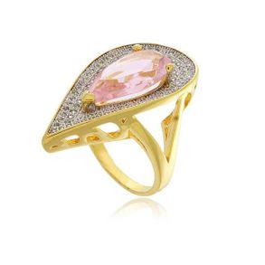 Anel-Gota-Com-Cristal-Rosa-Todo-Cravejado-Com-Zirconias-Cristais-Em-Banho-De-Ouro-18k