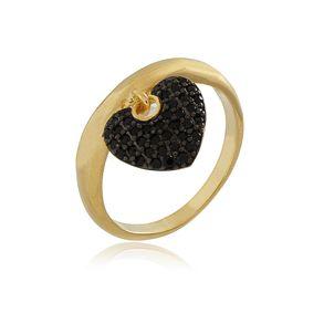 Anel-Pingente-Coracao-Cravejado-com-Zirconias-Black-Em-Banho-De-Ouro-18k