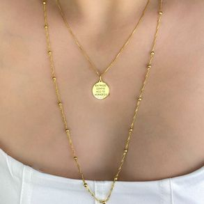 Colar-Medalha-EntregoConfioAceitoAgradeco-Em-Banho-De-Ouro-18k