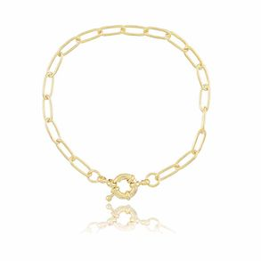 Pulseira-Corrente-Cartier-Com-Fecho-Boia-Em-Banho-De-Ouro-18k